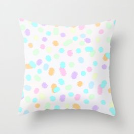 Fun Splodges of Color Throw Pillow