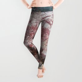 Cracking Paint and Rust Abstract Leggings