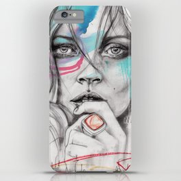 Kate Moss by Leo Tezcucano iPhone Case