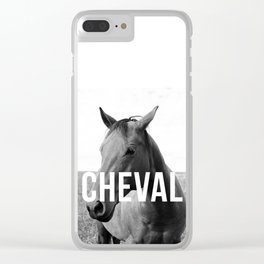 Cheval Portrait Trois Clear iPhone Case