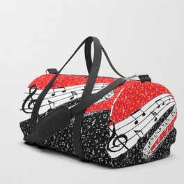 Red and black music theme Duffle Bag