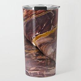 Rock patterns - Petra, Jordan Travel Mug