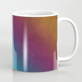 Bohek Bubbles on Rainbow of Color - Ombre multi Colored Spheres Coffee Mug
