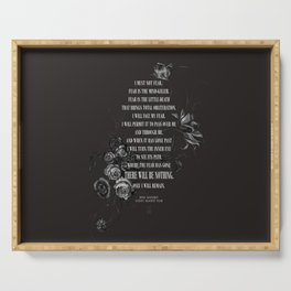 Bene Gesserit Litany Against Fear Serving Tray
