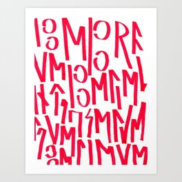 BELIEVE CALLIGRAPHY (WHITE&RED) Art Print