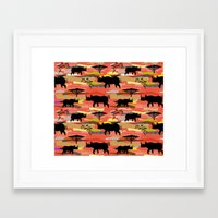 rhino Framed Art Prints featuring Rhino by misslin