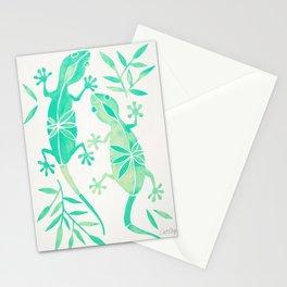 Geckos – Mint Palette Stationery Cards