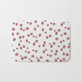 Peppermint Candy in White Bath Mat