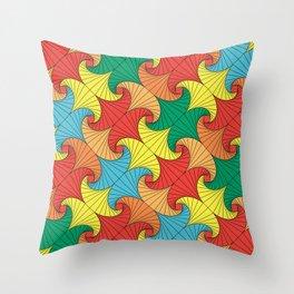 Dancing squares Throw Pillow