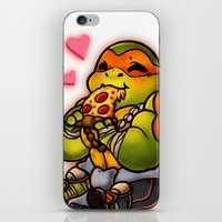 chibi iPhone & iPod Skins featuring Chibi Michelangelo by Noodles ^7^