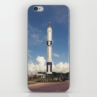 rocket iPhone & iPod Skins featuring Rocket by Nick De Clercq