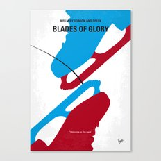 No562 My Blades of Glory minimal movie poster Canvas Print
