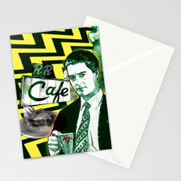 """Twin Peaks Agent Cooper """"A Damn Fine Cup of Coffee Stationery Cards"""