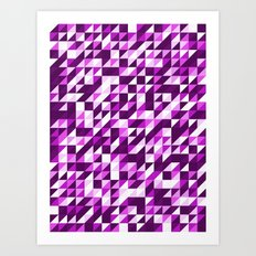 Purple Patchwork Art Print