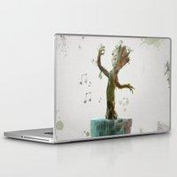 groot Laptop & iPad Skins featuring Baby Groot by Scofield Designs