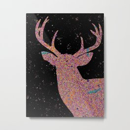 Moon Magic Buck (Black) Metal Print