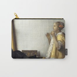 """Johannes Vermeer """"Woman with a Pearl Necklace"""" Carry-All Pouch"""