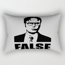 False funny saying Rectangular Pillow