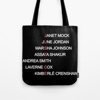 justice Tote Bags featuring JUSTICE by Marianna