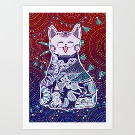 Touchy Catty Art Print