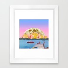 Pink lake Framed Art Print