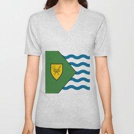 Flag of Vancouver Unisex V-Neck