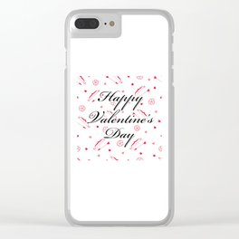 Happy Valentine's Day: Cupid's Arrow Clear iPhone Case