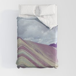Rainbow mountain, Peru Duvet Cover