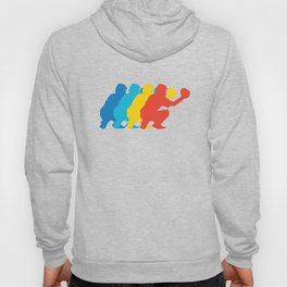 Baseball Catcher Retro Pop Art Graphic Hoody