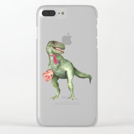 T-T-Terry T-Rex Clear iPhone Case