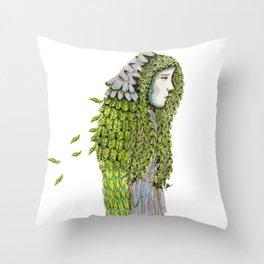 Ela. Defoliating Throw Pillow
