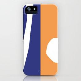 Geometric in orange and blue iPhone Case