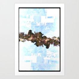 Landscapes c8 (35mm Double Exposure) Art Print