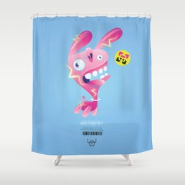 Electric Bunny-Wabbit Shower Curtain