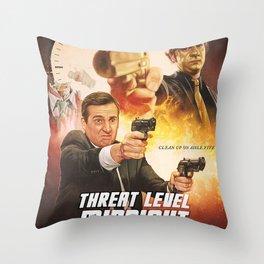 THREAT LEVEL MIDNIGHT MOVIE Throw Pillow