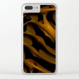 Carved In Wood Clear iPhone Case