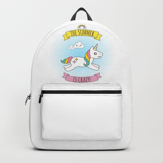 The Summer is Crazy - Unicorn Backpack