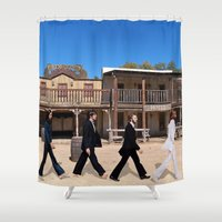 downton abbey Shower Curtains featuring Abbey road by eARTh