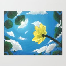 Things Are Looking Up garden lotus pond zen garden art painting Canvas Print
