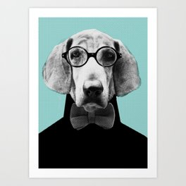 Mr Italian Bloodhound the Hipster Art Print