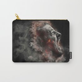 Burning face of man art Carry-All Pouch