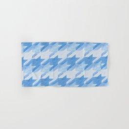 Blue Monochrome Houndstooths Hand & Bath Towel