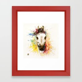 """""""Into the mirror"""" n°2 The horse Framed Art Print"""