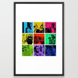 Nine street people pics Framed Art Print