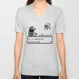 Pokémon / Stranger Thing demodog appeared Unisex V-Neck