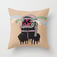ashton irwin Throw Pillows featuring Dead Space: The Spirits Escape by Terry Irwin