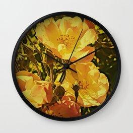 Vintage Climbing Roses Wall Clock