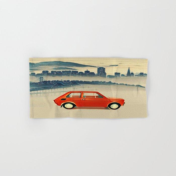 Red Polski Fiat  Hand & Bath Towel