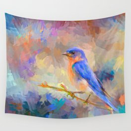 Bring On The Bluebirds Wall Tapestry