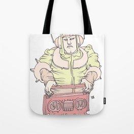 space digital j Tote Bag